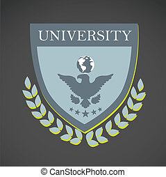 school design over gray background vector illustration