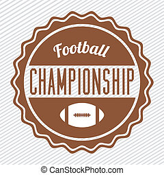 american football design over lineal background vector...