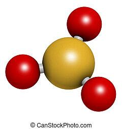 Sulfur trioxide pollutant molecule. Principal agent in acid...