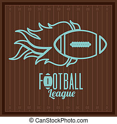 american football design over brown background vector...