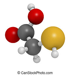 Thioglycolic acid (TGA) molecule. Used in chemical...