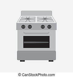 kitchen design over white background vector illustration