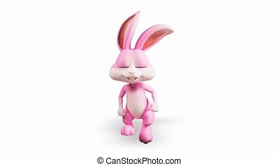 Bunny with running - Pink bunny with running