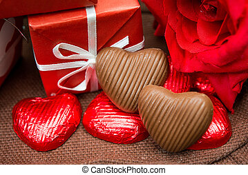 Valentines Chocolate-Love sweet heart shaped chocolates