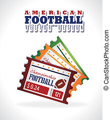 american football design over gray background vector...