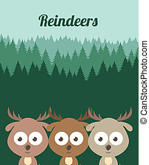 pets design - pets design over forest background vector...