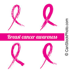 breast cancer over white background vector illustration