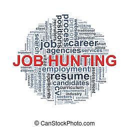 Circular wordcloud design job hunting word - Illustration of...