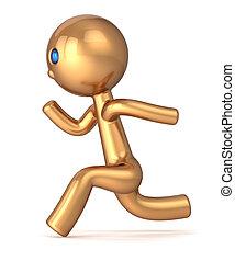 Running man pursuit sport character