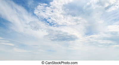 clouds in the blue sky - fluffy clouds in the blue sky