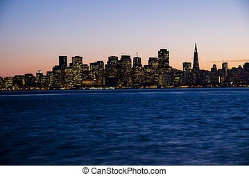 San Francisco - The city of San Francisco at sunset.
