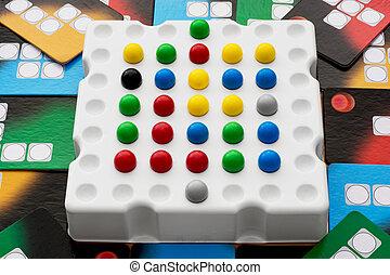 lógico, tabla, juego