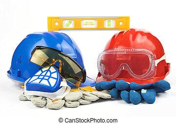 segurança, Engrenagem, equipamento
