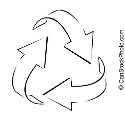 Recycle Arrows Simple Symbol