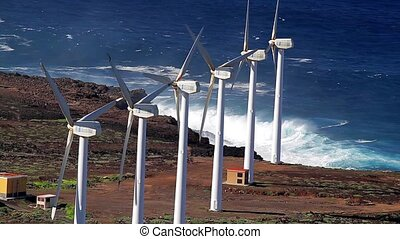 Wind Power Plant, Power Generator - Wind Engine, Power...