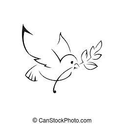 dove of peace Simple Symbol