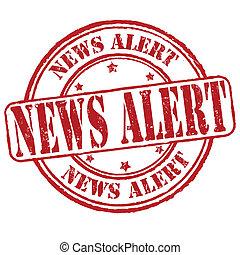 News alert stamp - News alert grunge rubber stamp on white,...