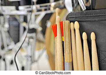 Snare Drum and Drum Sticks - Details of Snare Drum and Drum...