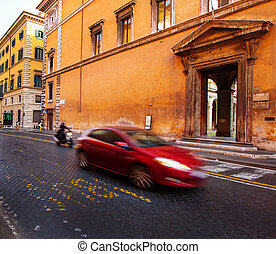 Traffic in Rome, Italy
