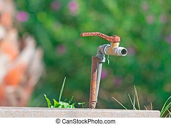 rusty faucet