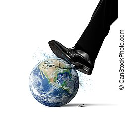 Destruction of the world because of man