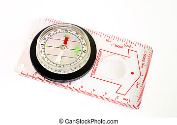 Compass on white background.