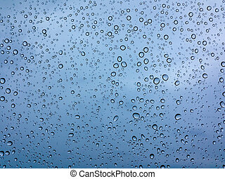 drops of rain on the glass - Many drops of rain on the glass