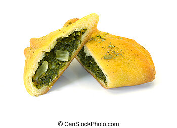 turnover - picture of cut Lebanese turnovers with fresh...