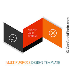 Paper geometric shape multipurpose design template