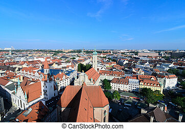 Aerial View Of Munich From St Peter Tower
