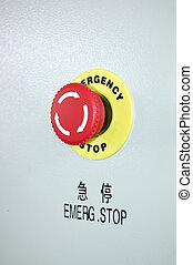 button - emergency stop in Chinese