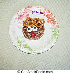 Reindeer gingerbread cookie