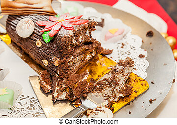 Yule log is a traditional dessert served near Christmas. It...