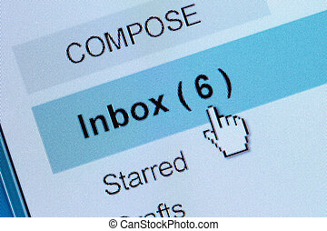 email - Computer Monitor screen, concept of email