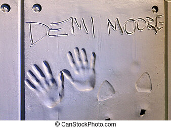 Handprints of Demi Moore - RENO, NEVADA - SEPTEMBER 19:...