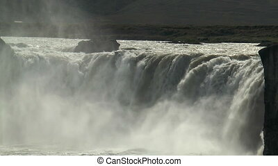 spectacular godafoss waterfall in iceland - godafoss...