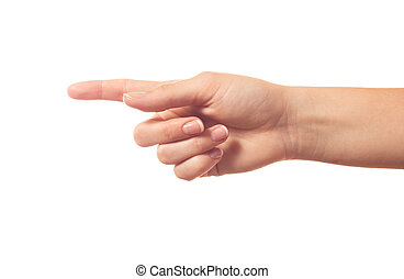 Pointing human hand