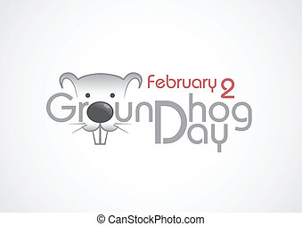 Groundhog Day, Text. - Groundhog Day Text. Vector...
