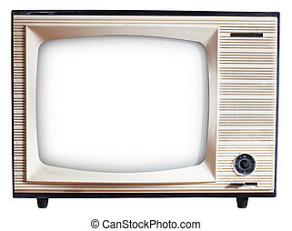 Old Russian TV set - Old Russian black and white TV set...
