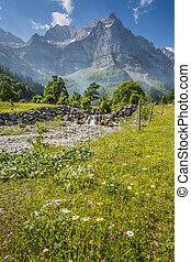 Alps in Austria - Image of alps in Austria in Hinterriss Eng...