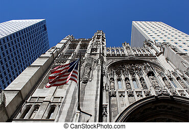Saint Thomas Church, located at the borough of Manhattan,...