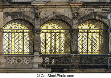 Historic windows in Dresden