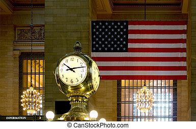 Stock Photographs of Cornelius Vanderbilt Monument, Grand Central ...