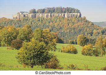 Saxon Switzerland fortress Konigstein - Landscape Saxon...