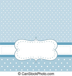 Blue dots vector invitation card - Sweet, blue dots vector...