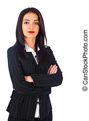 Woman Working in Business - Confident business woman in suit...
