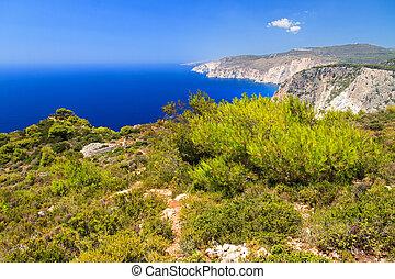 Cape Keri panorama - Beautiful vibrant landscape on top of...