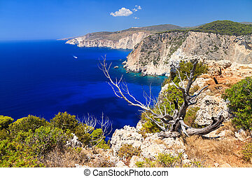 Coast of Keri - Beautiful view on top of the cliffs at Cape...