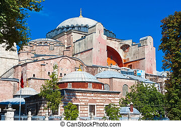 Hagia Sophia - Beautiful view of Hagia Sophia in Istanbul,...