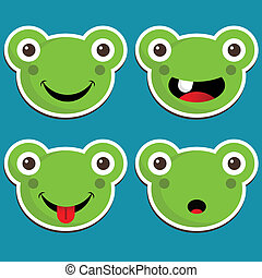 Cute Frog Stickers